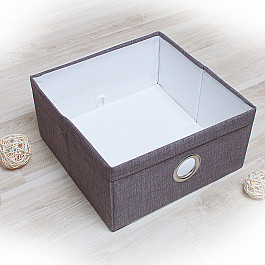 Кофры для хранения вещей Декоративная корзинка Фальсо-5, средняя, серый корзинка для хранения garden rattan