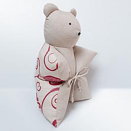 Декоративная подушка Нивасан Декоративная подушка Мишка, бордовый декоративная подушка нивасан декоративная подушка мишка оранжевый