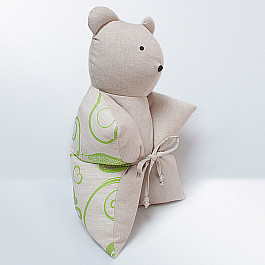 Декоративная подушка Нивасан Декоративная подушка Мишка, салатовый декоративная подушка нивасан декоративная подушка мишка оранжевый