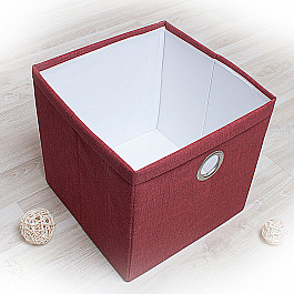 Кофры для хранения вещей Декоративная корзинка Фальсо-1, большая, бордовый корзинка для хранения garden rattan