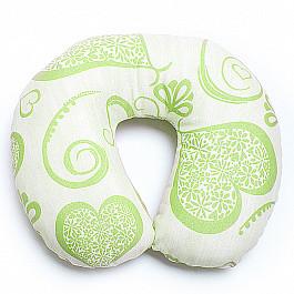 Декоративная подушка Нивасан Подушка под шею Ассорти-7, салатовый декоративная подушка нивасан декоративная подушка мишка салатовый