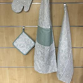 Полотенца Arya Комплект кухонных полотенец Arya Kitchen Line Retro (50*70 см), голубой