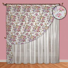 Шторы для комнаты РеалТекс Комплект штор №088 Фиолетовый цены онлайн