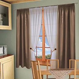 Шторы для кухни РеалТекс Комплект штор №054 Кофе с молоком цены онлайн