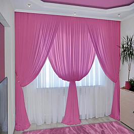 Шторы для комнаты РеалТекс Комплект штор №092 Брусничный черный ароматизированный чай брусничный