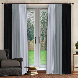 Шторы для комнаты РеалТекс Комплект штор №027, графит, серый, светло-серый