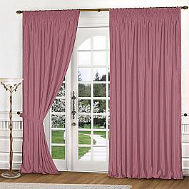 Шторы для комнаты РеалТекс Комплект штор №035 Брусника шторы реалтекс классические шторы neville цвет брусника