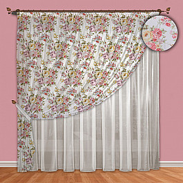 Шторы для комнаты РеалТекс Комплект штор №088 Сиреневый цены онлайн