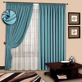 Шторы для комнаты РеалТекс Комплект штор №107 Бирюза бусики колечки комплект антураж им бирюза арт st 1029 sss