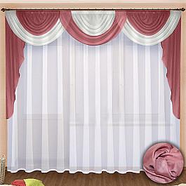 Шторы для комнаты РеалТекс Комплект штор №021 Брусника шторы реалтекс классические шторы neville цвет брусника