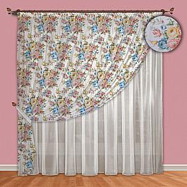 Шторы для комнаты РеалТекс Комплект штор №088 Голубой цены онлайн