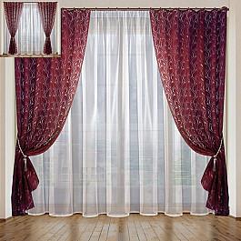Шторы для комнаты РеалТекс Комплект штор Листья №081, бордо boxpop lb 081 45