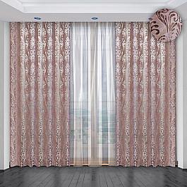 Шторы для комнаты РеалТекс Комплект штор №036, розово-сиреневый bondibon розово сиреневый