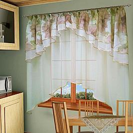 Шторы для кухни РеалТекс Шторы №015-1, персик шторы реалтекс классические шторы neville цвет брусника