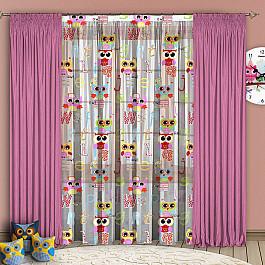 Шторы для детской РеалТекс Комплект штор №102 Розовый шторы реалтекс шторы с ламбрекеном радость цвет розовый