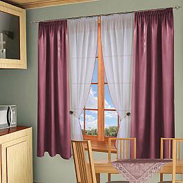 Шторы для кухни РеалТекс Комплект штор №054 Брусника шторы реалтекс классические шторы neville цвет брусника