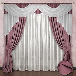 цена Шторы для комнаты РеалТекс Комплект штор №033 Бледно-розовый онлайн в 2017 году