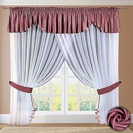 Шторы для кухни РеалТекс Шторы №052 Брусника шторы реалтекс классические шторы neville цвет брусника