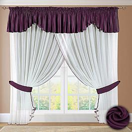 Шторы для кухни РеалТекс Шторы №052 Фиолетовый шторы реалтекс классические шторы neville цвет брусника