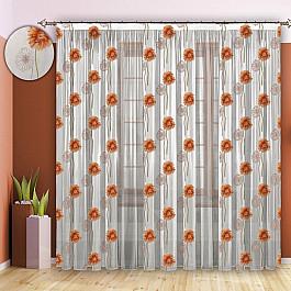 Шторы для комнаты РеалТекс Шторы №090 Оранжевый шторы реалтекс классические шторы alexandria цвет венге молочный венге