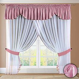 Шторы для кухни РеалТекс Шторы №052 Розовый шторы реалтекс шторы с ламбрекеном радость цвет розовый