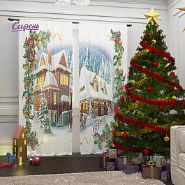 Тюль Сирень Фототюль Рождество в Альпах франсуа бонне каникулы в альпах