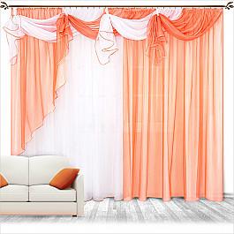 Шторы для комнаты Нивасан Шторы Бриз, персик цена