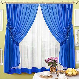 шторы Шторы для кухни Нивасан Шторы Луиза, синий