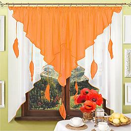 шторы Шторы для кухни Нивасан Шторы Капель - 1, оранжевый