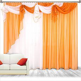 Шторы для комнаты Нивасан Шторы Бриз, оранж adamex champion alu 7m графит оранж