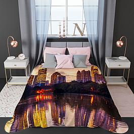 Фотопокрывало Стильный дом Стеганое фотопокрывало Стильный дом Зеркало города, 200*220 см фотошторы зеркало города стильный дом