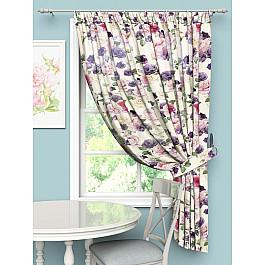 Шторы для кухни Стильный дом Шторы Стильный дом Фиолетовые розы, 145*180 см шторы море солнце и цветы стильный дом