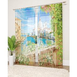 Тюль Стильный дом Фототюль Стильный дом Море, солнце и цветы, 145*260 см шторы море солнце и цветы стильный дом