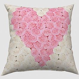 """Декоративная подушка """"Сердце из роз"""""""