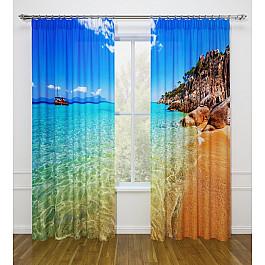 Фотоштора Стильный дом Фотошторы Стильный дом Лазурный берег делай с мамой набор бус пайетки лазурный берег