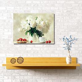 Сирень Картина Клубника и пионы, 60*40 см квикдекор картина на холсте танцы фей и эльфов 60 см х 40 см