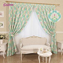 Шторы для комнаты Сирень Комплект штор Ронелли, голубой, 260 см комплект штор witerra тергалет 10709 голубой 140 260 см
