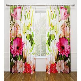 Фотоштора Стильный дом Фотошторы Стильный дом Летние цветы шторы море солнце и цветы стильный дом