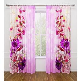 Фотоштора Стильный дом Фотошторы Стильный дом Волшебные цветы шторы море солнце и цветы стильный дом