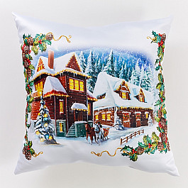 Фотоподушка Сирень Декоративная подушка сатен Рождество в Альпах франсуа бонне каникулы в альпах
