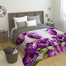 Фотопокрывало Сирень Стеганое фотопокрывало Тюльпаны, 200*220 см цена