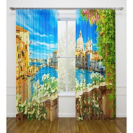 Фотоштора Стильный дом Фотошторы Стильный дом Море, солнце и цветы шторы море солнце и цветы стильный дом