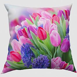 Фотоподушка Сирень Декоративная подушка блэкаут Тюльпаны цена