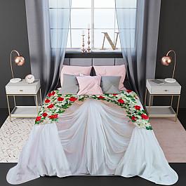 Фотопокрывало Стильный дом Стеганое фотопокрывало Стильный дом Цветы и кисея, 200*220 см шторы море солнце и цветы стильный дом