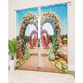 Тюль Стильный дом Фототюль Стильный дом Сад из цветочных арок, 145*260 см ahura 114 статуэтка пантера 1225838