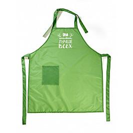 Фартуки Фартук Она готовит лучше всех, зеленый рукавицы прихватки фартуки karna фартук с салфеткой ainslie цвет зеленый