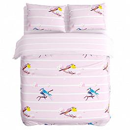 Постельное белье Сирень КПБ Пение птиц  (1.5 спальный) чайная пара sij пение птиц