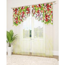 Тюль Стильный дом Фототюль Стильный дом Узор и цветы, 145*260 см шторы море солнце и цветы стильный дом