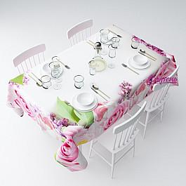 Скатерти Сирень Скатерть Розовые цветы, 145*220 см невидимка для волос funny bunny розовые цветы 2 шт