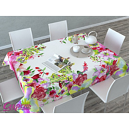 Скатерти Сирень Скатерть 3D Акварельные цветы, мультиколор globo 49245